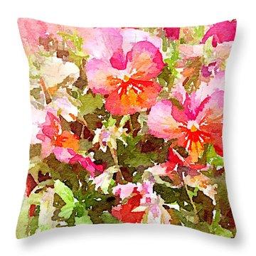 Spring Begins Throw Pillow