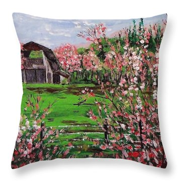 Spring Bloom Throw Pillow