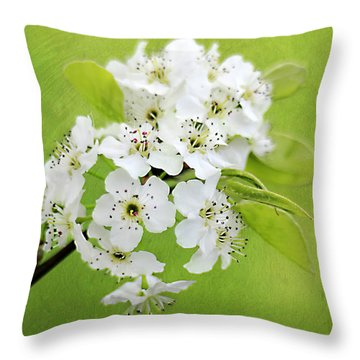 Spring Blooms Throw Pillow by Darren Fisher