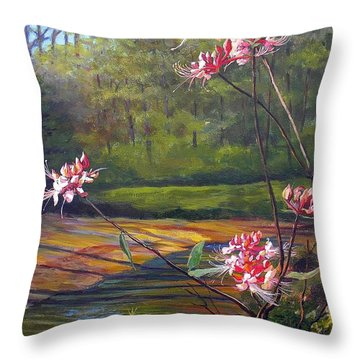 Spring Blooms On The Natchez Trace Throw Pillow