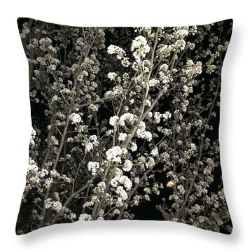 Spring Blossoms Glowing Throw Pillow