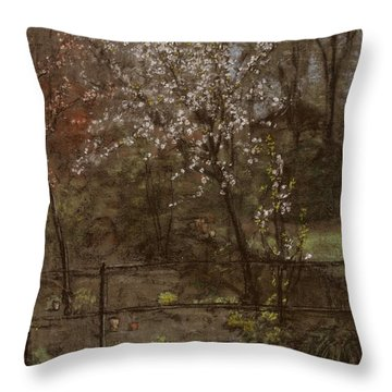 Spring Blossoms Throw Pillow by Henry Muhrmann