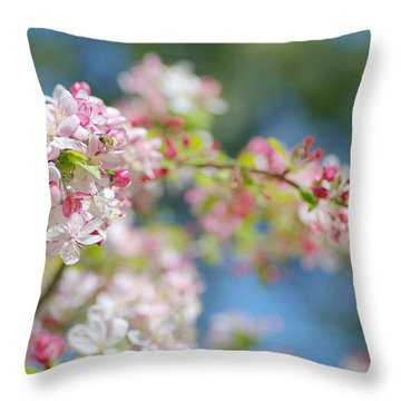 Spring Bouquet 2 Throw Pillow by Fraida Gutovich