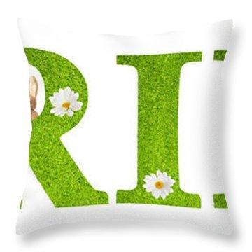 Spring Bunnies Throw Pillow
