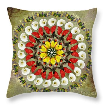 Spring Celebration Throw Pillow by Elizabeth Alexander