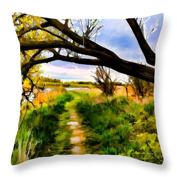 Spring Colours  By Leif Sohlman Throw Pillow