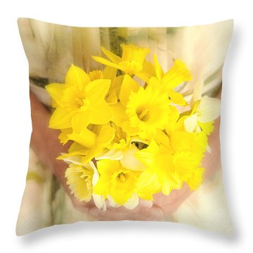 Spring Daffodils Throw Pillow