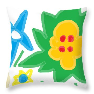 Throw Pillow featuring the painting Spring Day White by Anita Dale Livaditis