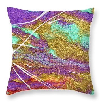 Spring Daydream Abstract Painting Throw Pillow