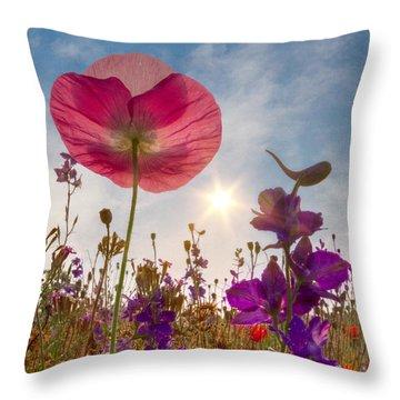 Spring   Throw Pillow by Debra and Dave Vanderlaan