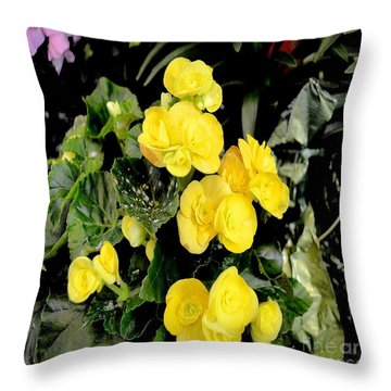 Throw Pillow featuring the photograph Spring Delight In Yellow by Luther Fine Art
