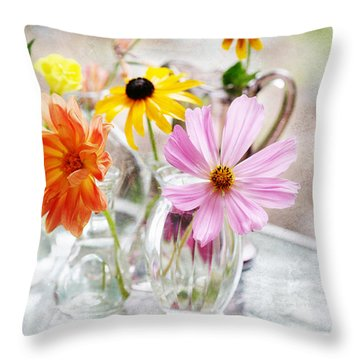 Spring Delights Throw Pillow by Bonnie Bruno