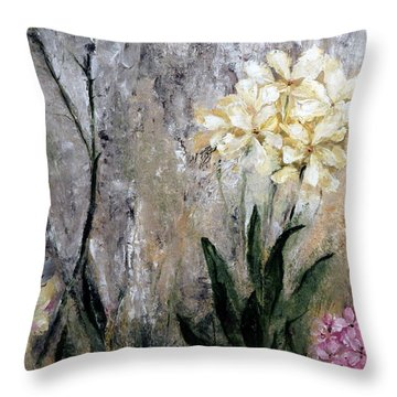 Spring Desert Flowers Throw Pillow by Lisa Kaiser
