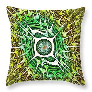 Spring Dragon Eye Throw Pillow by Anastasiya Malakhova