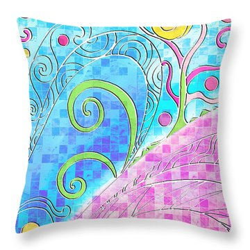 Spring Equinox Throw Pillow by Shawna Rowe