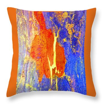 Spring Eucalypt Abstract 5 Throw Pillow