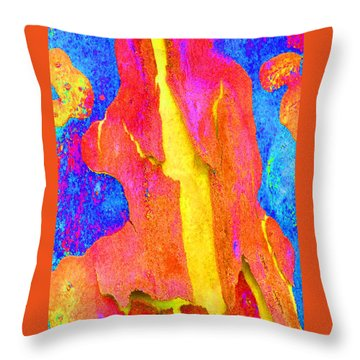 Spring Eucalypt Abstract Throw Pillow
