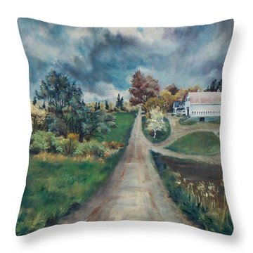 Spring Farm Throw Pillow by Joy Nichols