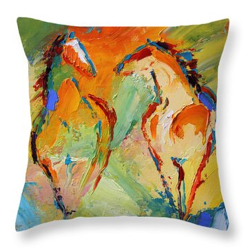 Spring Fever Horse 14 2014 Throw Pillow