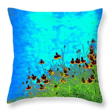 Spring Fling Throw Pillow by Debbie Summers