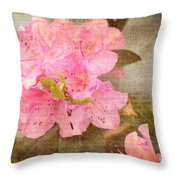 Spring Floral Throw Pillow by Arlene Carmel
