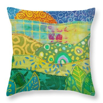 Spring Flourish Throw Pillow by Susan Rienzo