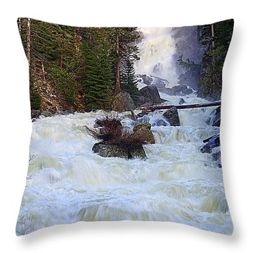 Spring Flow Falls Throw Pillow by Matt Helm