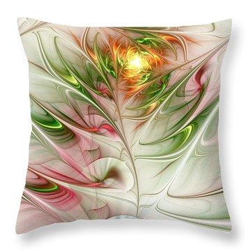 Spring Flower Throw Pillow by Anastasiya Malakhova