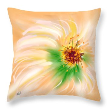 Spring Flower Throw Pillow by Angela A Stanton