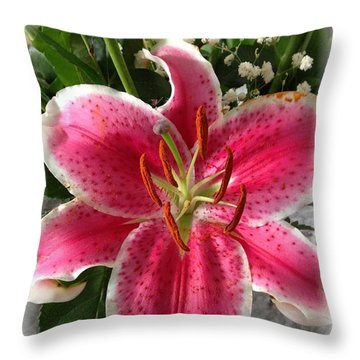 Spring Flower Collection 3 Throw Pillow