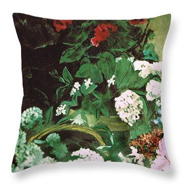 Spring Flowers Study Of Monet Throw Pillow