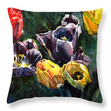 Spring Follows Winter Throw Pillow