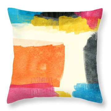 Black Abstract Art Throw Pillows