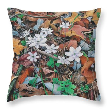 Throw Pillow featuring the painting Spring Forward by Pamela Clements