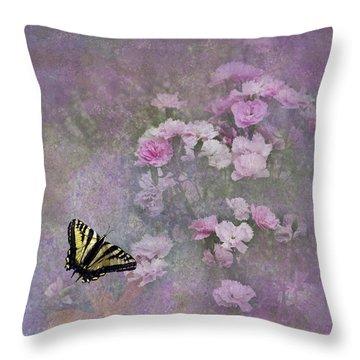Spring Garden Throw Pillow by Diane Schuster