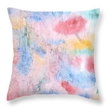 Spring Garden Throw Pillow by Susan  Dimitrakopoulos