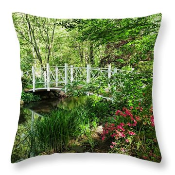 Spring Gardens Throw Pillow