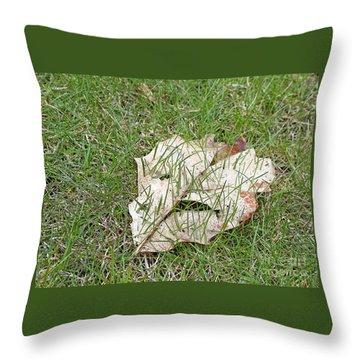Spring Grass Growing Throw Pillow by Ann Horn
