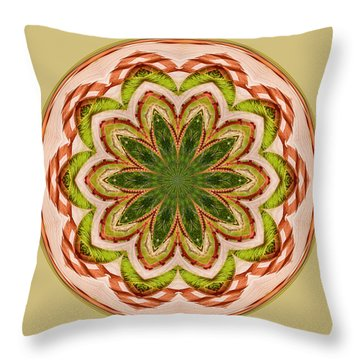 Spring Grasses Mandala Throw Pillow