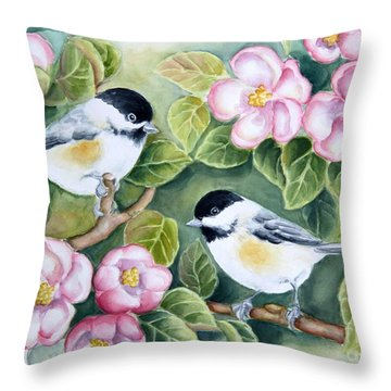 Spring Greetings Throw Pillow