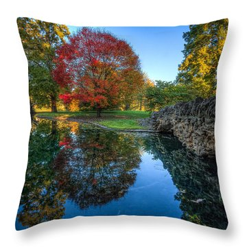 Spring Grove In The Fall Throw Pillow