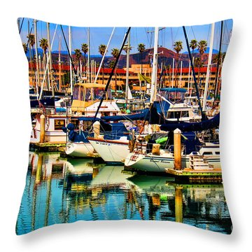 Spring Harbor Throw Pillow by Mariola Bitner