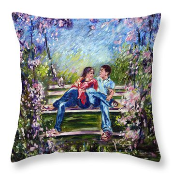 Spring Throw Pillow by Harsh Malik