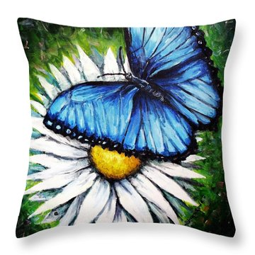 Throw Pillow featuring the painting Spring Has Sprung by Shana Rowe Jackson
