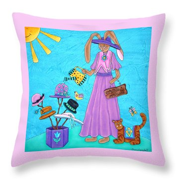 Spring Has Sprung Throw Pillow by Tracy Campbell