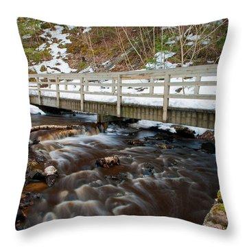 Spring Hike  Throw Pillow