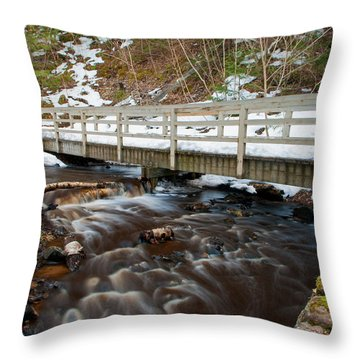 Spring Hike  Throw Pillow