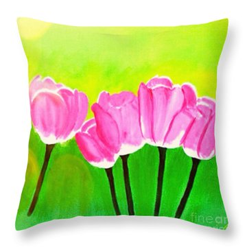 Spring I Throw Pillow