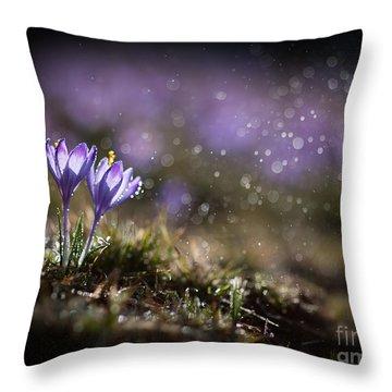 Spring Impression I Throw Pillow by Jaroslaw Blaminsky