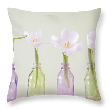 Spring In A Bottle Throw Pillow